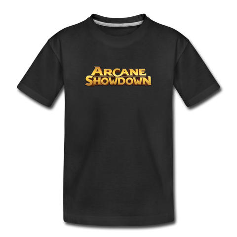 Kid's Arcane Showdown Big Logo T-Shirt - black