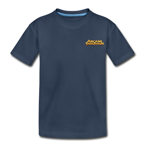 Kid's Arcane Showdown Small Logo T-Shirt - navy
