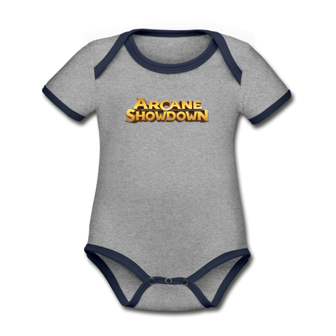 Arcane Showdown Baby Bodysuit - heather gray/navy