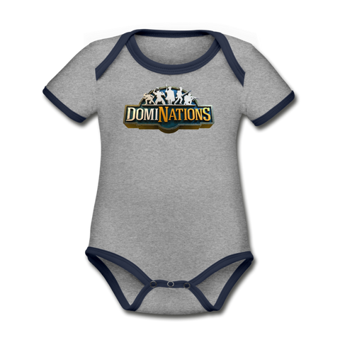 DomiNations Baby Bodysuit - heather gray/navy
