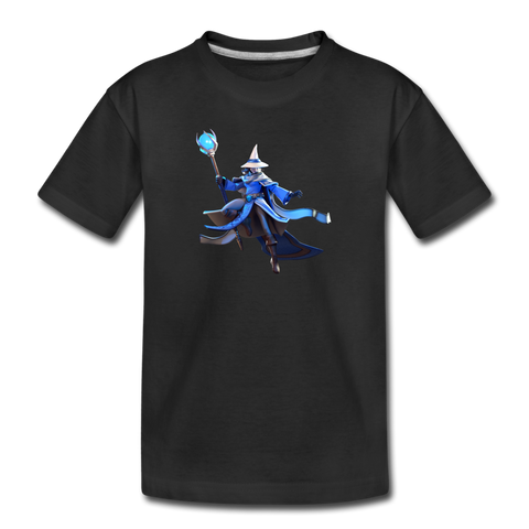 Kid's Arcane Showdown Blue Mage T-Shirt - black