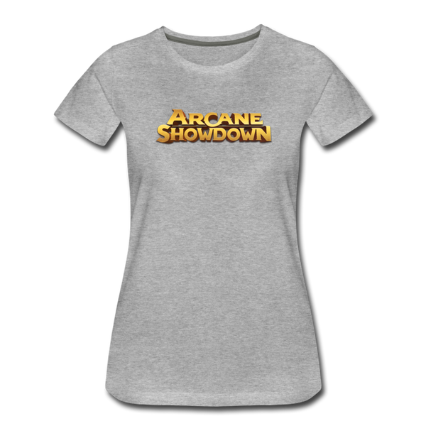 Women's Arcane Showdown Big Logo T-Shirt - heather gray