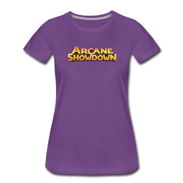 Women's Arcane Showdown Big Logo T-Shirt - purple