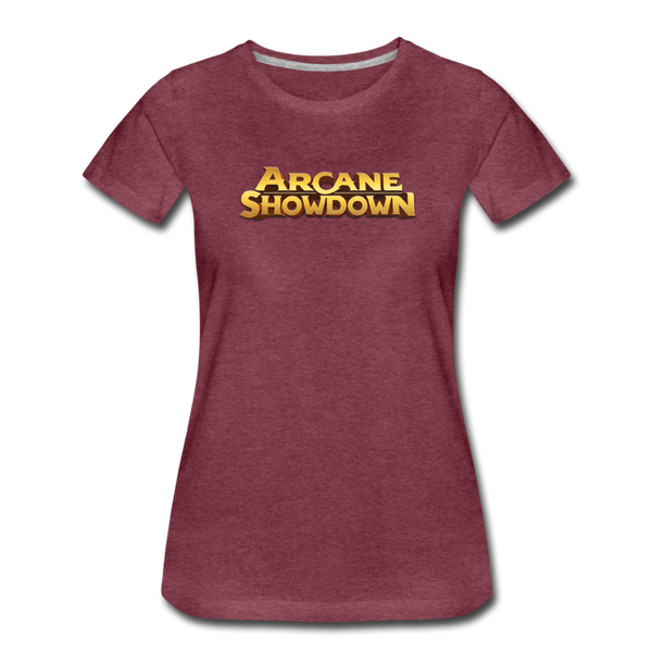 Women's Arcane Showdown Big Logo T-Shirt - heather burgundy