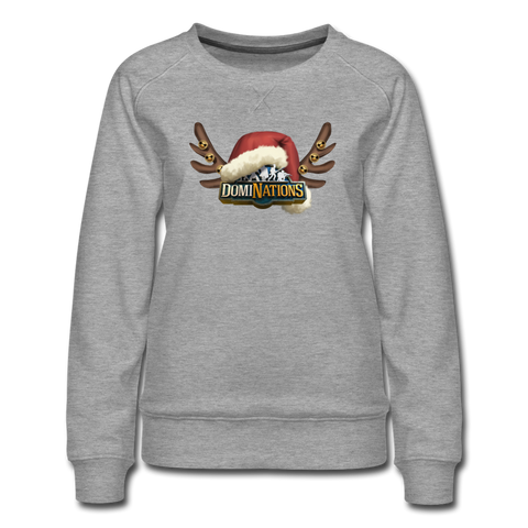 Women's DomiNations Holiday Crewneck Sweatshirt - heather gray