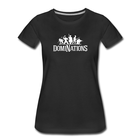 Women's DomiNations White Logo T-Shirt - black