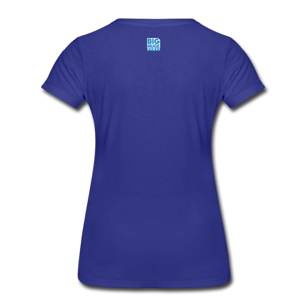 Women's DomiNations White Logo T-Shirt - royal blue