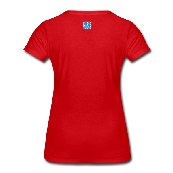 Women's DomiNations White Logo T-Shirt - red