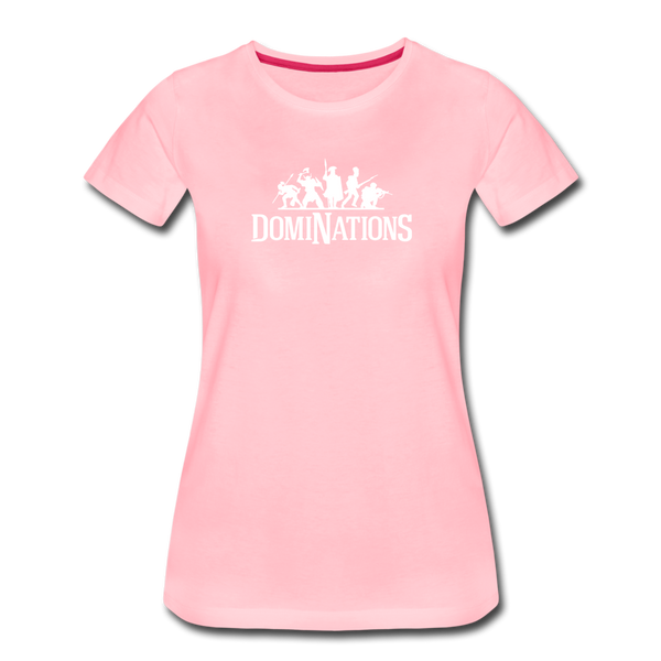 Women's DomiNations White Logo T-Shirt - pink