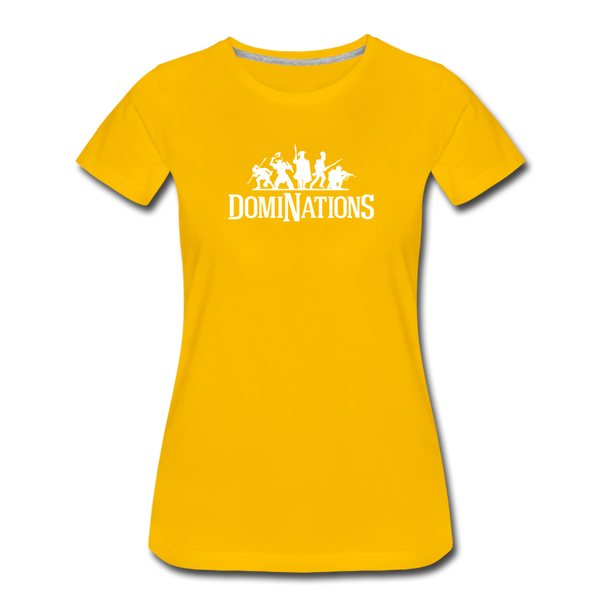 Women's DomiNations White Logo T-Shirt - sun yellow