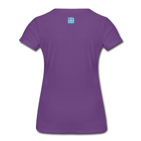 Women's DomiNations White Logo T-Shirt - purple