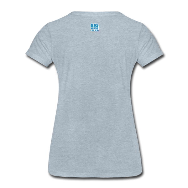 Women's DomiNations White Logo T-Shirt - heather ice blue