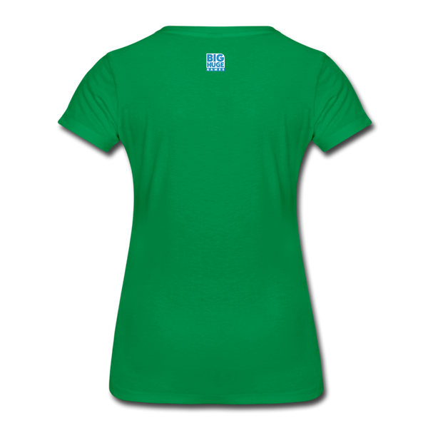 Women's DomiNations White Logo T-Shirt - kelly green