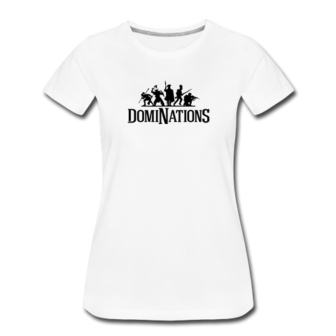 Women's DomiNations Black Logo T-Shirt - white