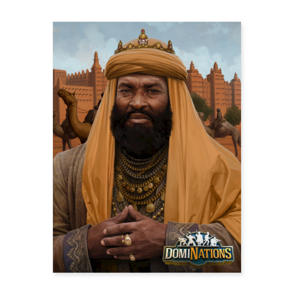 "Mansa Musa University Leader Poster - 18"" x 24"" - white"