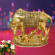 PNF Craft  Spiritual Kamdhenu Cow Calf and Lord Krishna Idol showpiece