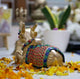 PNF Craft Brass Sitting Nandi Cow Statue
