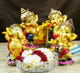PNF Craft Musical Dancing Ganesha Statue for Home Decor (Set of 4)