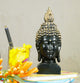 PNF Craft Black Polyresin Sculptures Buddha