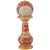 PNF Craft Gold Painted Meenakari Work Marble Pillar Watch for Desk