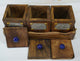 Wood Tea Coffee Sugar Container -3-Set -Wooden Boxes