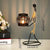 PNF Craft Sculpture Metal Candle Holder Abstract Figurines Handmade