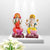 PNF Craft Gorgeous White Laxmi Ganesh Murti On Chauki