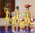 PNF Craft Antique Finished Brass Handmade Tribal Lady Figures ( Set Of 3 )
