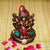 PNF Craft Lord Ganesha Wooden Statue with Stone Work Showpiece