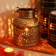 PNF Craft Wrought And Cast Iron T Light Diya Lantern