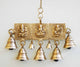 PNF Craft Antique Brass 7 Bells With Laxmi Ganesha- Door Bell
