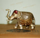 PNF Craft Antique Brass Elephant Pair Statue