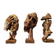 PNF Craft Three Human Sculpture Figurine Modern Art