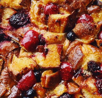 Jam Donut Bread & Butter Pudding (serves 2)