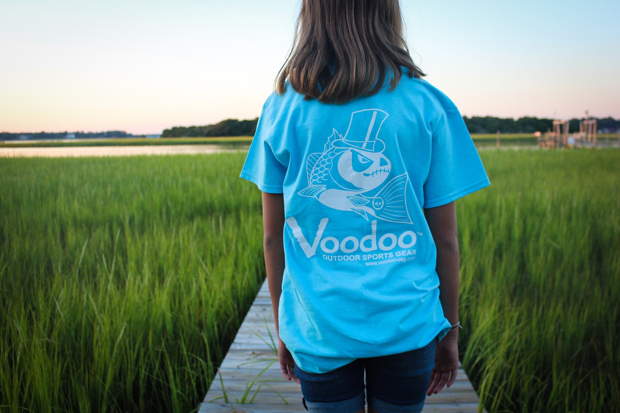 SALE  -  Voodoo T-Shirt (sky blue) short sleeve
