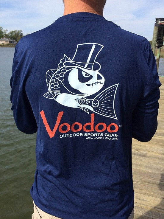 SALE  -  Voodoo Performance T-shirt (navy) long sleeve