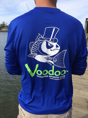 SALE  -  Voodoo Performance T-shirt (royal) long sleeve