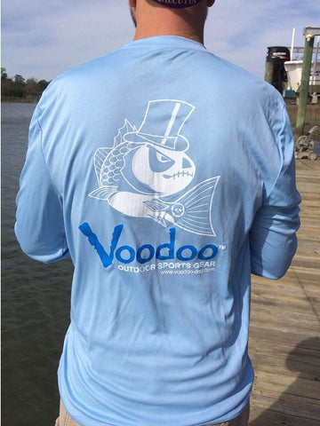 SALE  -  Voodoo Performance T-shirt (Voodoo blue) long sleeve