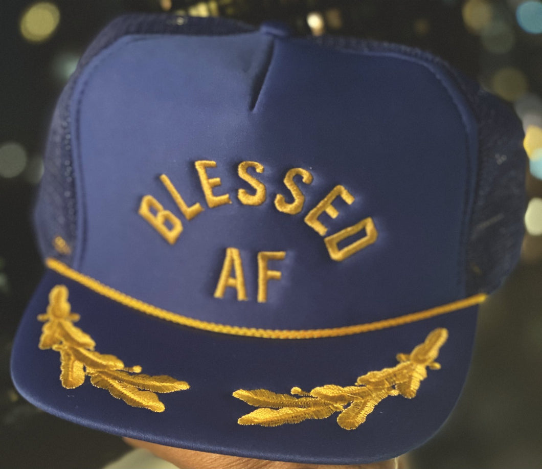 BlessedAF Daddy hat blue.