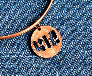 412 Cut Penny Bangle