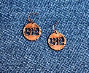 412 Cut Penny Earrings
