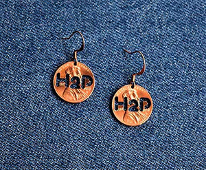 H2P Cut Penny Earrings