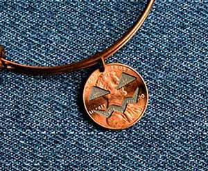 Jack-o-lantern Cut Penny Bangle