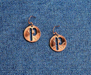 """P"" Cut Penny Earrings"