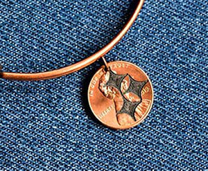 Steeler Cut Penny Bangle
