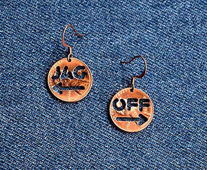 Jagoff Cut Penny Earrings