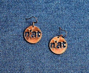N'at Cut Penny Earrings