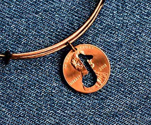 Note Cut Penny Bangle