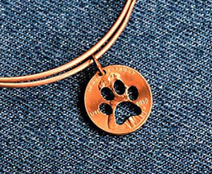 Paw Cut Penny Bangle
