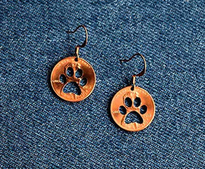 Paw Cut Penny Earrings